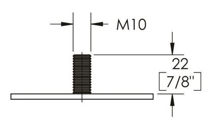 "Picture of Peter Meier 10"" Tall Como Furniture Legs in Como Black Matte (552-25-19)"