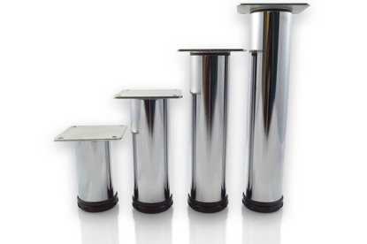 """Picture of Peter Meier 10"""" Tall Como Furniture Legs in Como Polished Chrome (552-25-C1)"""