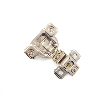 """Picture of Salice 1 1/4"""" Overlay Dowel Mounting Hinge - (3 Cam) in Nickel for 106° Opening Angle"""