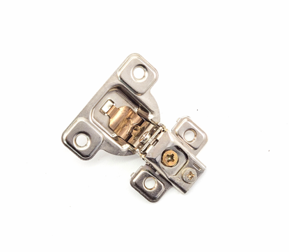 """Picture of Salice 1/2"""" Overlay Hinge Screw On (3 Cam)106° Opening Angle in Nickel"""