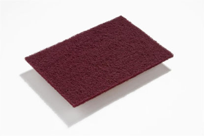 """Picture of SurfPrep Non-Woven 6"""" X 9"""" Maroon Very Fine A 320 Grit A/O Pads"""